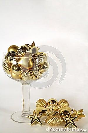 Golden ornament champagne sparkle
