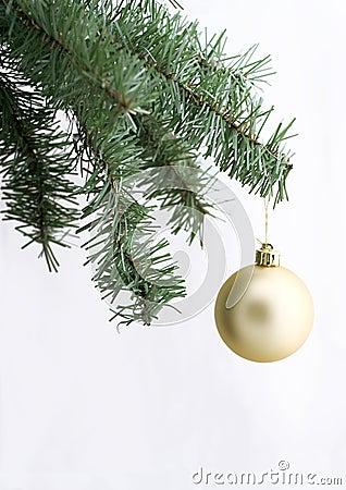 Free Golden Ornament On Christmas Tree Stock Photos - 315723