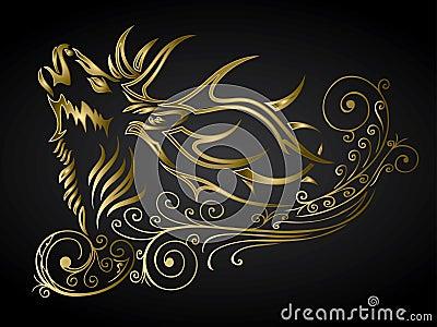 Golden ornamented deer