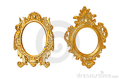 Golden oval frames