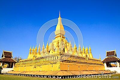 Golden pagada in Wat Pha That Luang