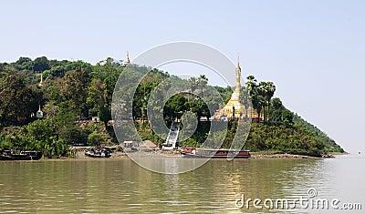 Burmese Island Pagoda