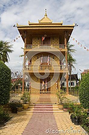 Golden Pagoda, Siem Reap, Cambodia