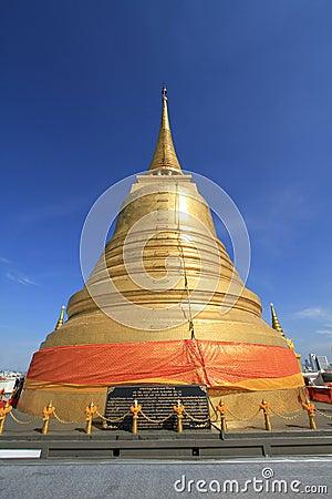 Golden pagoda at Wat Sraket, Bangkok,Thailand
