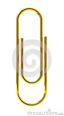 Golden paper clip