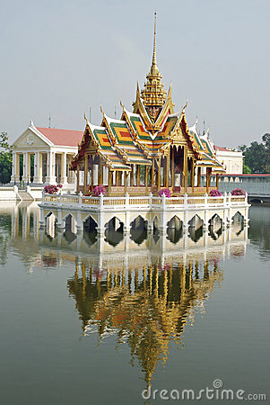 Golden pavilion-at Palace Bang Pa-In , Thailand