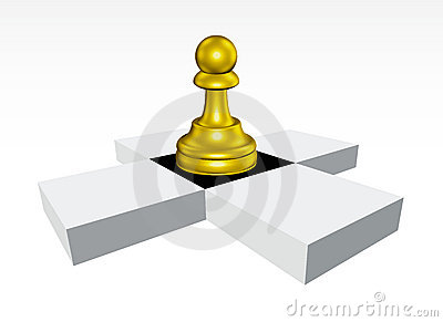 Golden Pawn chessboard