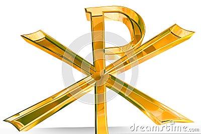 Golden Pax Christi cross