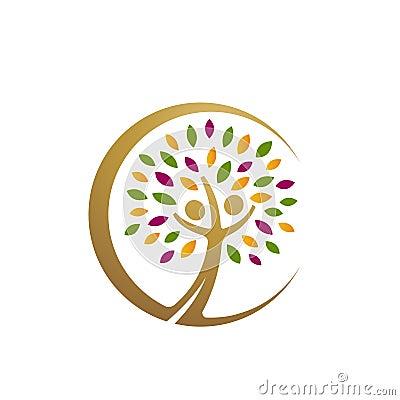 Free Golden People Tree Icon Royalty Free Stock Photo - 84878165