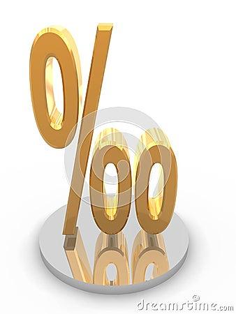 Golden per mil symbol