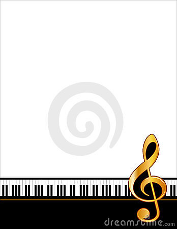 Golden piano poster