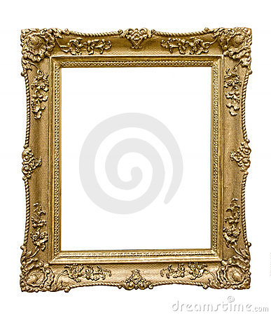 Free Golden Picture Frame Royalty Free Stock Photos - 12328018