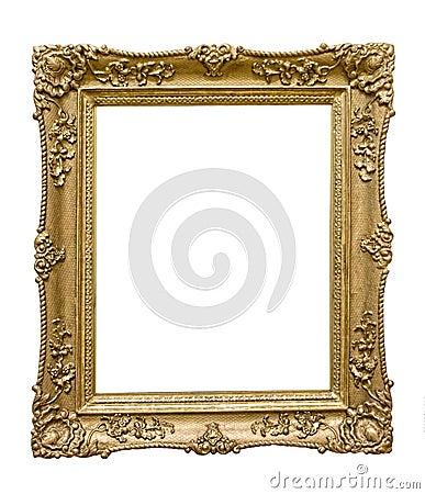 Golden picture frame