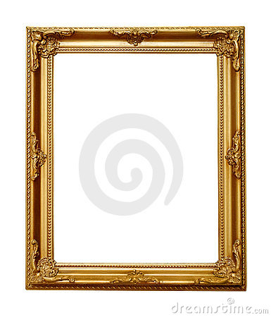Free Golden Picture Frame Stock Image - 7531191