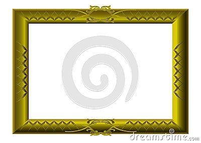 Golden picture frame swirls