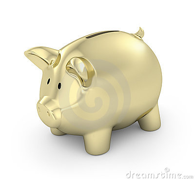 Free Golden Piggy Bank Stock Images - 11670074