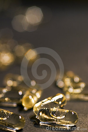 Free Golden Pills Stock Images - 358474