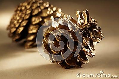 Golden Pine Cones