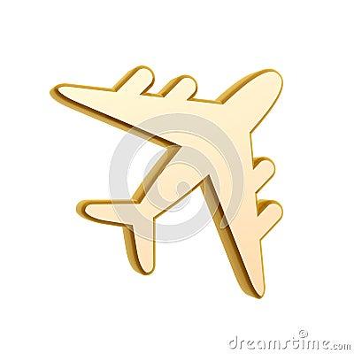 Golden plane symbol