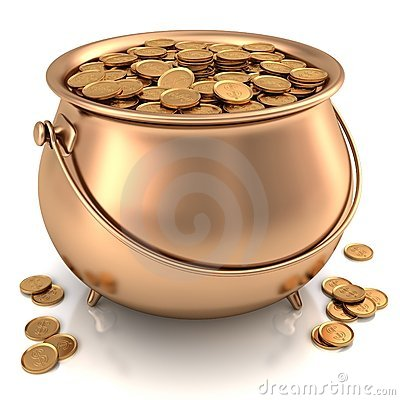 Golden Pot full of Gold Coins