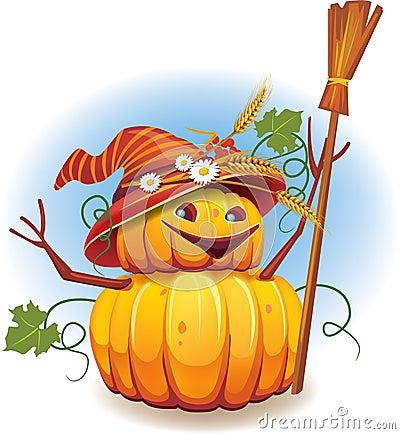 Golden pumpkin harvest