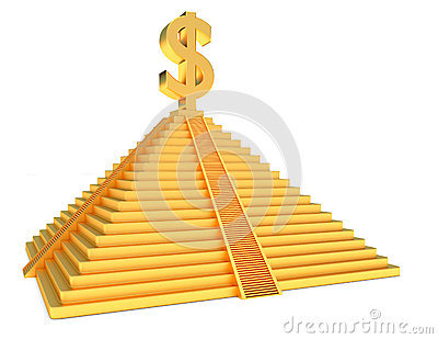 Golden pyramid dollar
