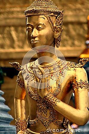 Golden Ramakien Statue