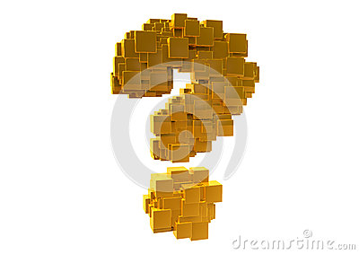 Golden Random Question Mark