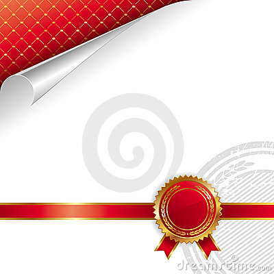 Free Golden-red Royal Design With Seal Of Quality Royalty Free Stock Photos - 10633528