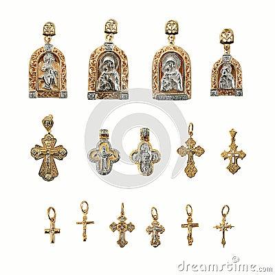 Golden religion jewelry