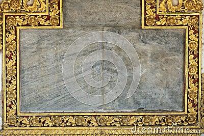 Golden religious frame