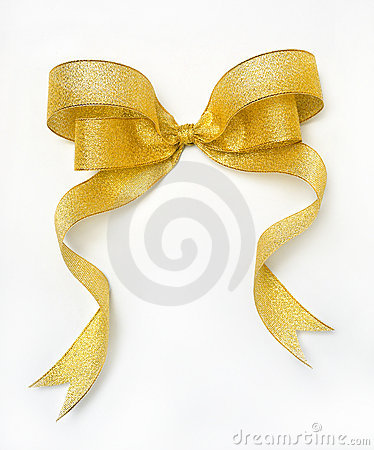 Free Golden Ribbon Stock Image - 5764531