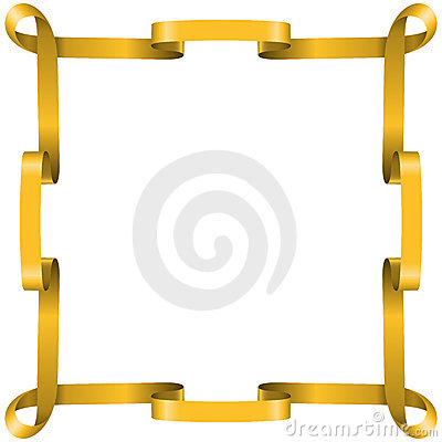 Golden ribbon frame