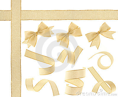 Golden Ribbon (Isolated)