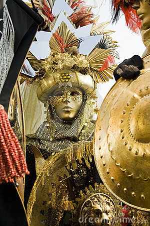 Golden Rome costume Editorial Image