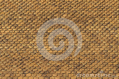 Golden Roof Tiles Pattern
