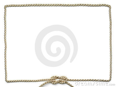 Golden Rope Frame Royalty Free Stock Images - Image: 15318859