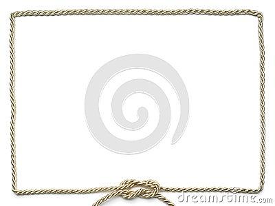 Golden rope frame
