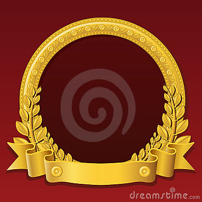 Golden Round Frame Royalty Free Stock Images Image 8586439