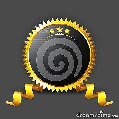 Golden Royal Badge