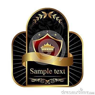 Golden royal label