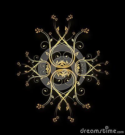 Golden royal ornaments