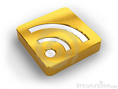 Golden RSS symbol Editorial Photography