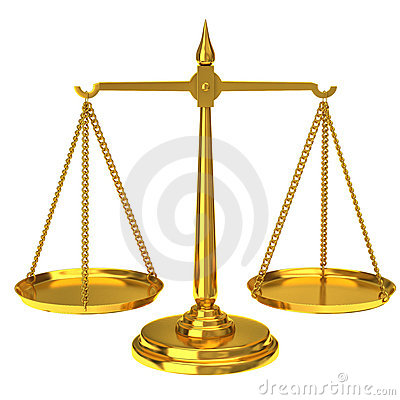 Free Golden Scales Of Justice Royalty Free Stock Image - 17079716
