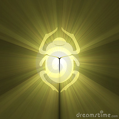 Golden scarab light flare