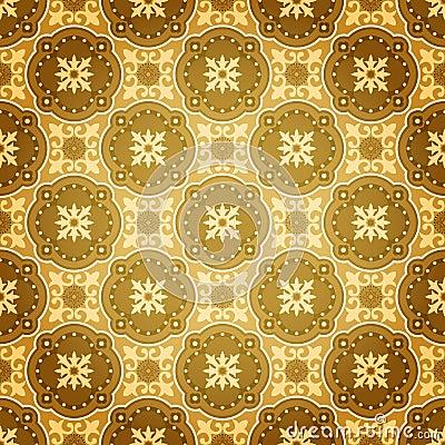 Free Golden Seamless Wall Pattern Royalty Free Stock Photo - 18948125