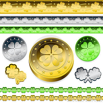 Golden shamrock token coins