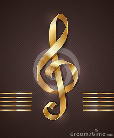 Golden shape of treble clef