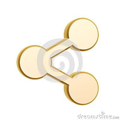 Golden share symbol