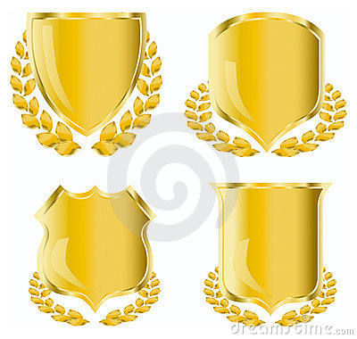 Free Golden Shield Royalty Free Stock Image - 5755556